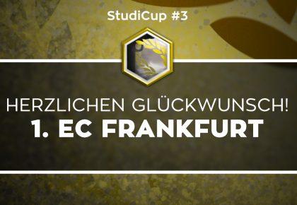 1. EC Frankfurt gewinnt den dritten Rainbow Six Siege StudiCup
