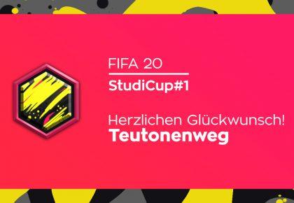 Teutonenweg gewinnt den ersten FIFA 20 StudiCup!