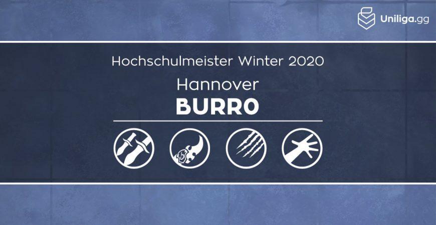 HS: Burr0 ist der neue Hochschulmeister!