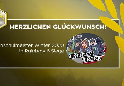 R6S: Uniteam Trier wird der erste Hochschulmeister!