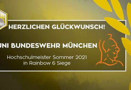 R6S: Uni Bundeswehr München ist der neue Hochschulmeister!